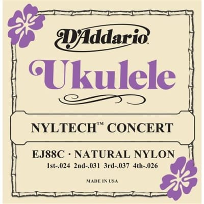 D'Addario EJ88C Nyltech Ukulele Strings - Concert