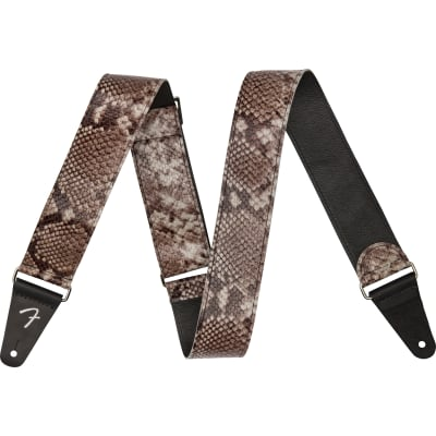 Fender Wild Leather Guitar Strap - Faux Snakeskin Fender Wild Leather Guitar Strap - Faux Snakeskin for sale