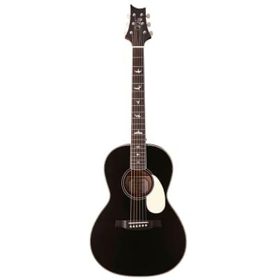 PRS Paul Reed Smith SE P20E Parlor Acoustic Electric Guitar, Satin Black Top