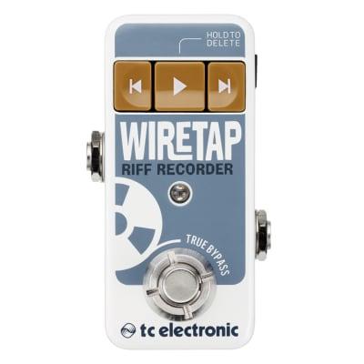 TC ELECTRONIC WIRETAP RIFF RECORDER REGISTRATORE DI RIFF A PEDALE PER CHITARRA CON CONTROLLO BLUETOOTH for sale