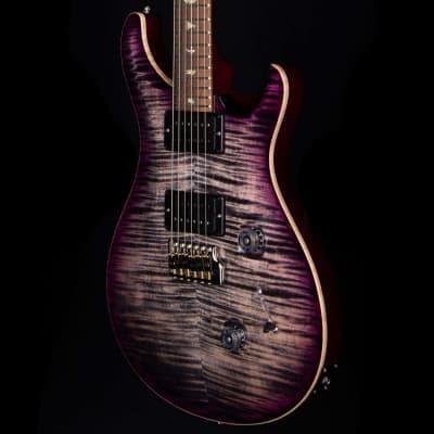 PRS Wood Library Custom 24 Vampire Flame 10 Top Brazilian Rosewood Board Charcoal Purple Burst