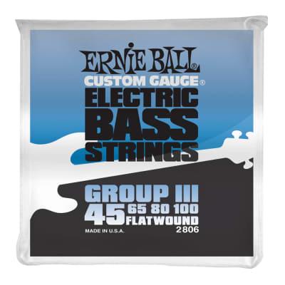 Ernie Ball Bass Flat Wound III String Set 45-100