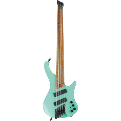 Ibanez EHB1005MSSFM EHB Ergonomic Headless 5-String Multi-Scale Bass Guitar, Roasted Birdseye Maple
