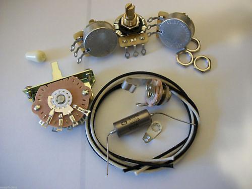 wiring kit for stratocaster cts oak switchcraft 047uf k40y reverb. Black Bedroom Furniture Sets. Home Design Ideas