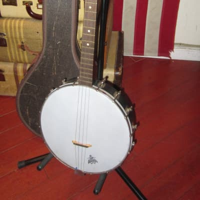 1964 Kay Tenor Four String Banjo White for sale