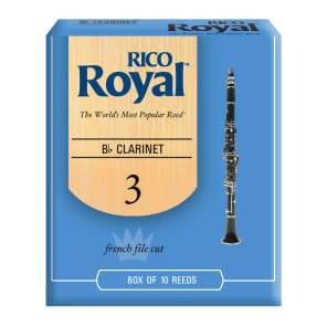 Rico RCB1030 Royal Bb Clarinet Reeds - Strength 3.0 (10-Pack)