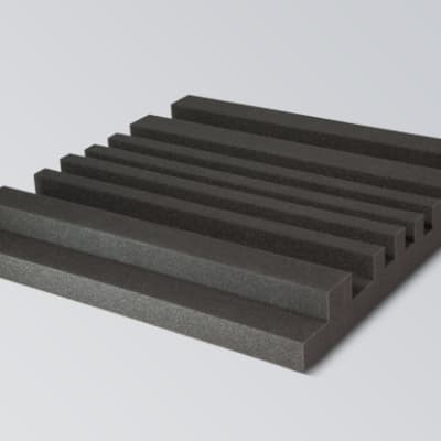 Quadsorber 6 - Acoustic Sound Absorber Panel (10 Pack)-Charcoal Gray