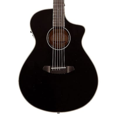 Breedlove Discovery Concert Satin Black CE Sitka-Mahogany with Gig Bag