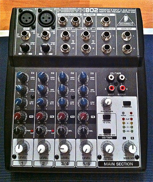 behringer xenyx 802 mixer mic pre free shipping reverb. Black Bedroom Furniture Sets. Home Design Ideas
