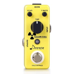 Donner Yellow Fall Analog Delay True Bypass Free 2 Day Shipping