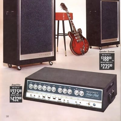 HEATHKIT TA-17 Solid-State  1968 azul for sale
