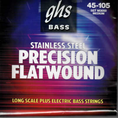 GHS Precision Flatwound Bass Guitar Strings Medium 45 - 105