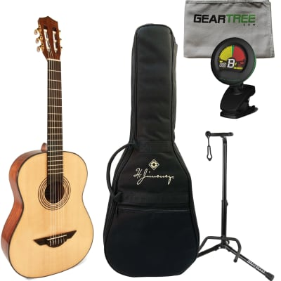 H. Jimenez Voz Fuerte (Powerful Voice) – LG1 Acoustic Guitar w/ Gig Bag, Tuner, Cloth, and Stand for sale