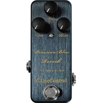 One-Control Prussisan Blue Reverb Effects Pedal for sale