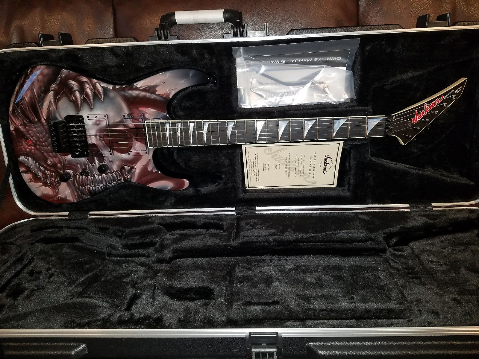 Jackson USA Custom Shop - Red Dragon Guitars x Mike Learn Exclusive Dragon Skull SL2