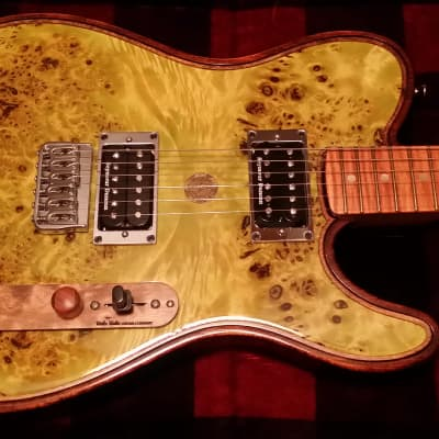 Walla Walla Maverick Pro Crystal Tele-style guitar - burl top, Duncans, fully-chambered body for sale