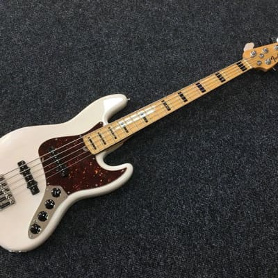 Fender American Deluxe Jazz Bass 5 String Ash 2013 White Blonde for sale