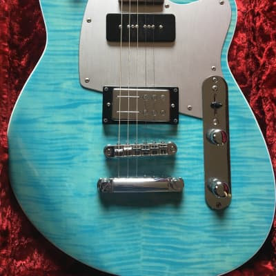 Reverend Double Agent OG 20th Anniversary Sky Blue Flame Maple for sale