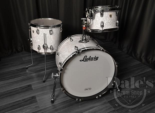 ludwig drum sets usa classic maple white marine pearl kit reverb. Black Bedroom Furniture Sets. Home Design Ideas