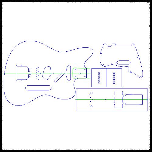 Telemaster Strat Heel Guitar Routing Templates 1 4 Reverb