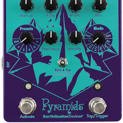 New Earthquaker Devices Pyramids Stereo Flanging Device Guitar Pedal
