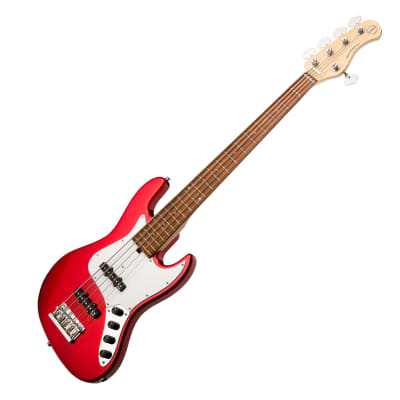 Sadowsky (RSD) MetroExpress 21-Fret J/J 5-String Bass Guitar, Candy Red Apple Metallic High Polish, Morado Fingerboard