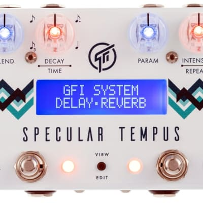 GFI System Specular Tempus Reverb And Delay Guitar Effect Pedal