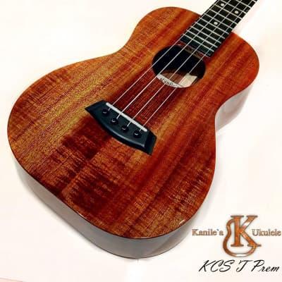 Kanile a KCS T Prem TRU-R Tenor ukulele with Premium Hawaii Koa wood #20426 Natural / High Gloss