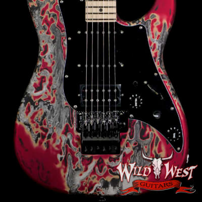 James Tyler USA Studio Elite Burning Water 2K Floyd Rose Maple Fingerboard with Midboost Preamp for sale