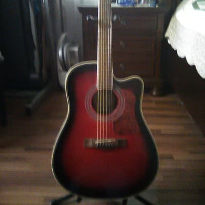 Randy Jackson Single-cut Dreadnought redburst for sale