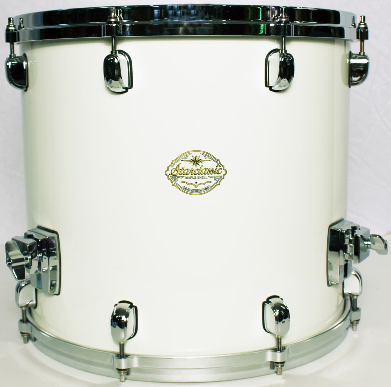 Tama starclassic maple 14x16 piano white floor tom with for 16 x 14 floor tom