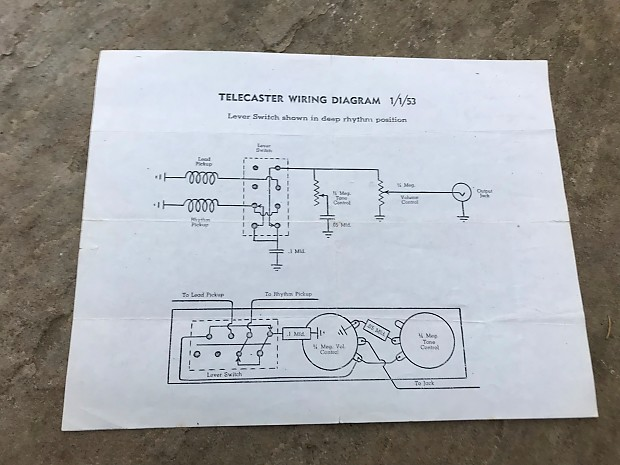 Vintage Fender Telecaster Wiring Diagram - Wiring Diagram ... on