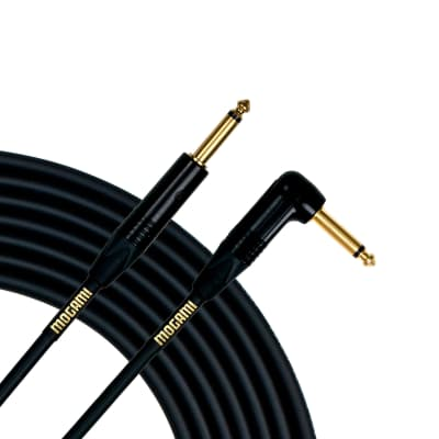 Mogami Gold Guitar/Instrument Cable (Straight to Right Angle End), 3 Foot