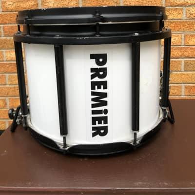 Premier Marching Drum Corps 90's White w/ black hardware Finnish Birch