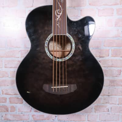 Michael Kelly Dragonfly Fretless 5 Acoustic-Electric Bass 2021 Transparent Black for sale