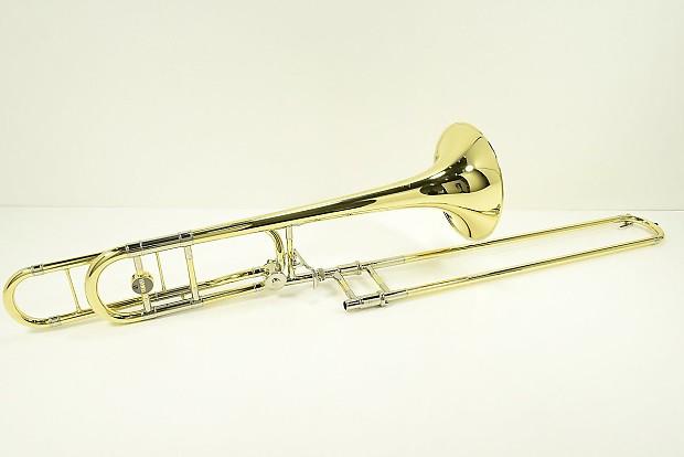 yamaha trombone. yamaha ysl-882o xeno series open wrap tenor trombone w/ f attachment a