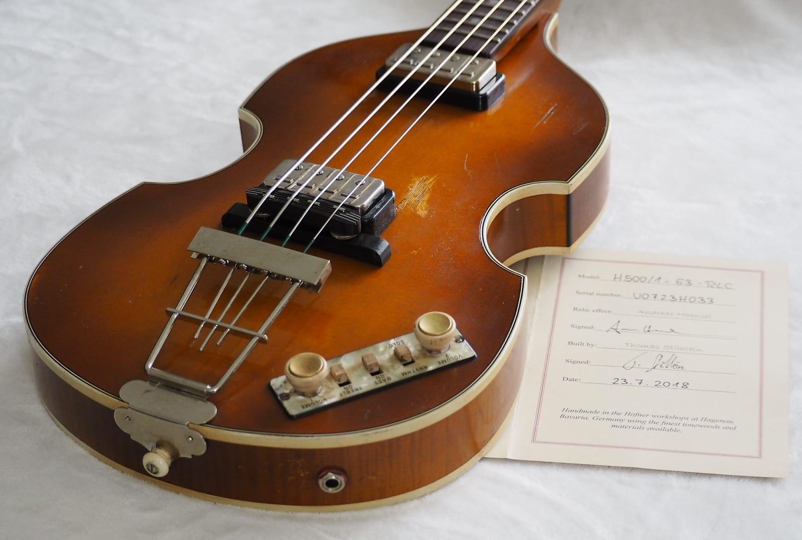 Hofner 500/1 '63 Relic 2018 Violin Burst