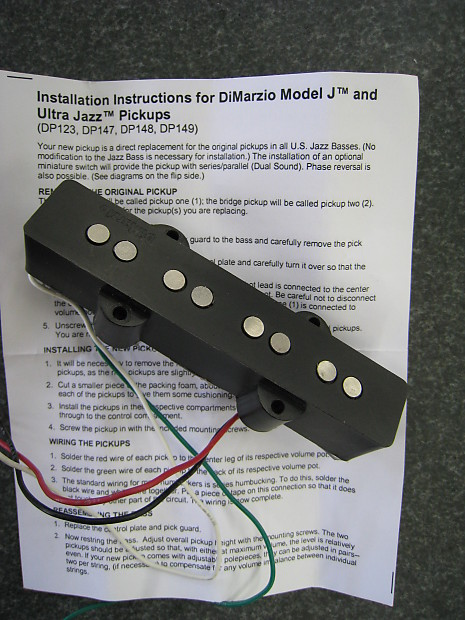 Dimarzio Ultra Jazz Bass Bridge Pickup  Dp148