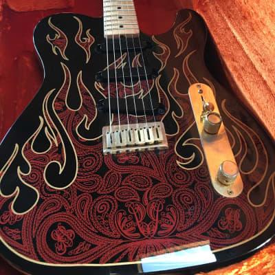 Fender James Burton Artist Series Signature Telecaster 2000's flame  New jumbo frets , Read for sale