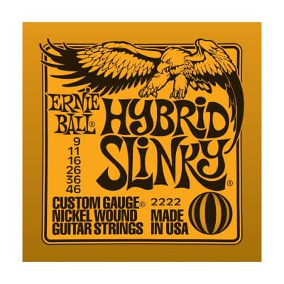 ERNIE BALL Hybrid Slinky Nickel Wound Electric Guitar Strings (2222) Single Pack