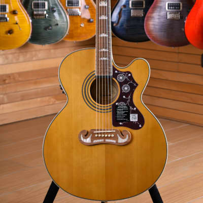 Epiphone EJ-200SCE Solid Top Vintage Natural for sale