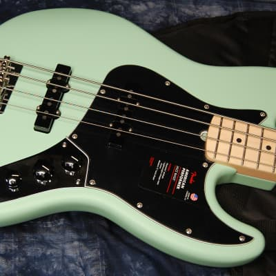 MINTY! Fender American Performer Jazz Bass Satin Surf Green Authorized Dealer Gig Bag - SAVE BiG!
