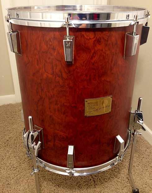 sonor signature bubinga 15 floor tom drum 12 ply reverb