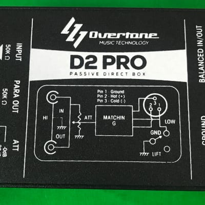New Overtone D2 Pro - High-Performance Passive Direct Box