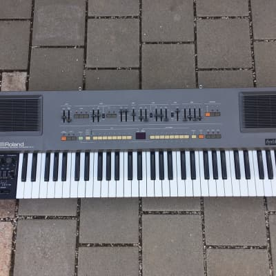 Roland HS-60 Polyphonic Analogue Synthesizer SynthPlus60 1985 Grey fully serviced
