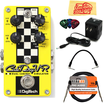 DigiTech CabDryVR Dual Cabinet Simulator Pedal w/ Power Supply