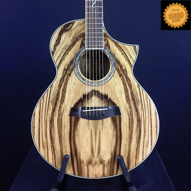 ibanez ew20zwe exotic wood series zebrawood acoustic electric reverb. Black Bedroom Furniture Sets. Home Design Ideas