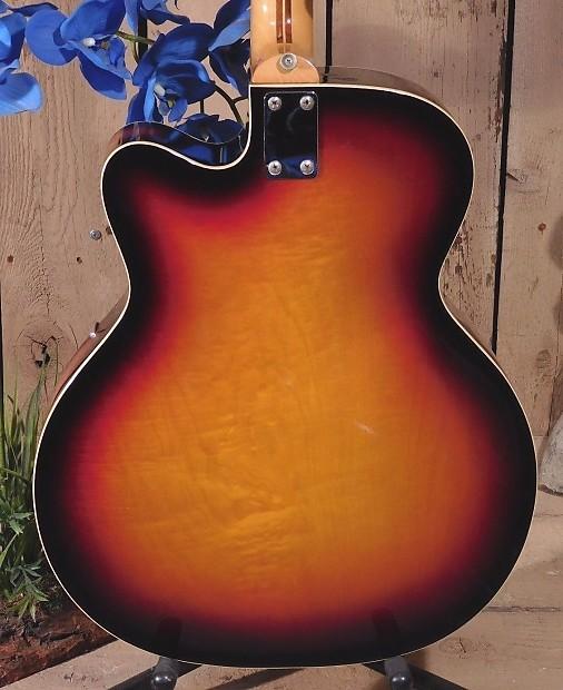 wurlitzer 7730 jazz single cutaway guitar vintage 1967 made reverb. Black Bedroom Furniture Sets. Home Design Ideas