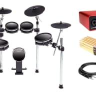 Alesis DM10 MK2 Studio Drum Kit w/ Focusrite Scarlett 2i2, Drum Sticks & Cables