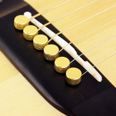NEW Bridge Pin Set Tone Pin for Acoustic Guitars TP1B by D'andrea - SOLID BRASS for sale